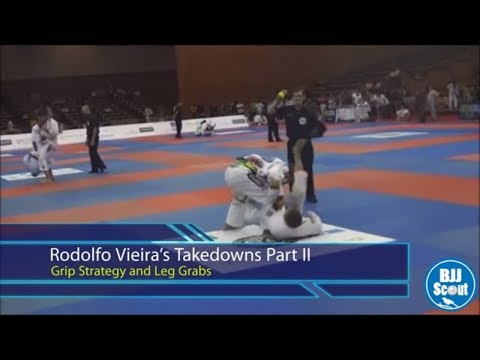 BJJ Scout: Rodolfo Vieira Takedown Study Part 2 - Grip Strategy and Leg Grabs Image 1