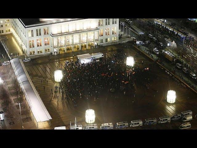 تجمع همزمان اسلام ستیزان و مخالفان آنها در لایپزیک آلمان
