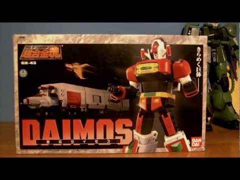 Bandai Soul Of Chogokin Gx-43 Daimos Unboxing Pl video