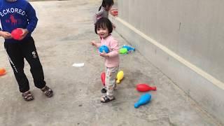 Trò chơi bé chơi bowling | đồ chơi bowling | bé chơi bowling | LV Kids TV