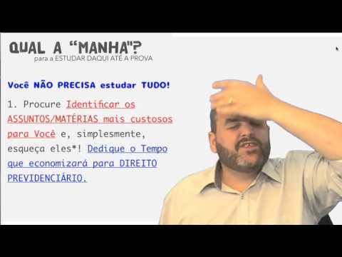 """INSS 2016 - Video 003 - A """"Manha"""" para a PREPARAÇÃO até a prova"""