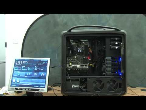 Extreme PC Build First Boot-up into the UEFI BIOS Intel Core i7 Sabertooth X79 MB Cosmos 2 Case