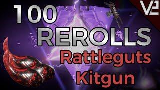 Warframe - 100 Rerolls: Rattleguts Kitgun! Fortuna Craftable Weapons!