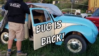 VW Super Beetle Restoration - Ready to Uncover -  Volkswagen rebuild continues FINALLY!