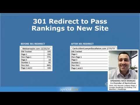 LAWYER SEO: How to Pass Rankings and Links from One Site to Another