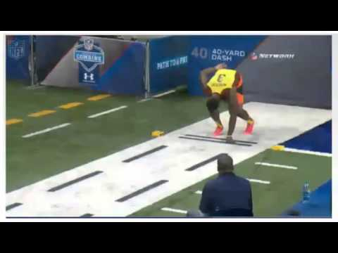 Terron Armstead's Incredible 40 yd Dash