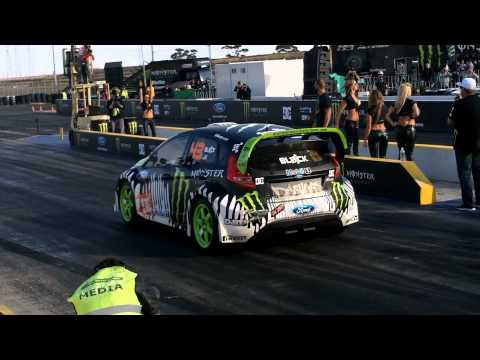 Ken Block Drag Race vs Jamie Whincup
