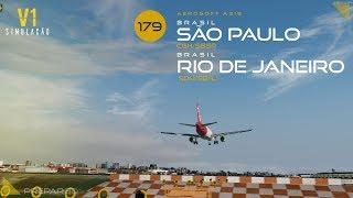 Aerosoft A319 (New) | Congonhas → Santos Dumont → Congonhas → Curitiba