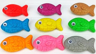Learn Colors with 9 Color Play Doh and Farm Animals Molds | Surprise Toys PJ Masks Surprise Eggs