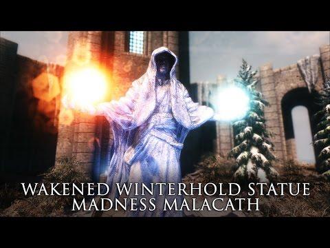 TES V - Skyrim Mods: Wakened Winterhold Statue. Madness Malacath