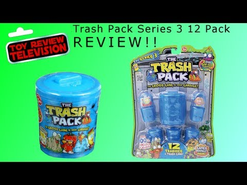 New Trash Pack Series 3. 12 Pack Toy Review Opening. Exclusive Colour Change!