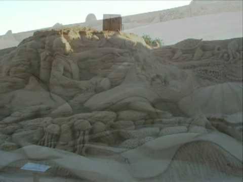 slideshow fiesa/Pera  2007 portugal sand sculptures Algarve pria de luz july 07
