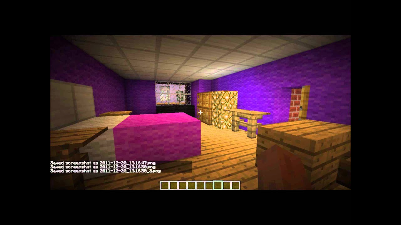 Minecraft Funky Bedroom For Girls Youtube