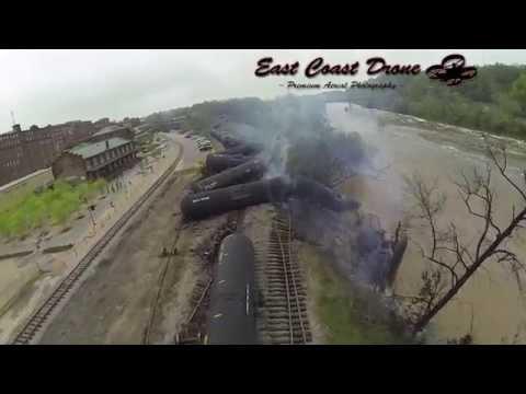 Lynchburg VA Train Derailment | www.eastcoastdrone.net