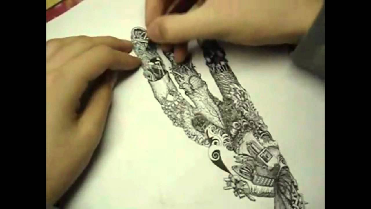 Surrealism Hands Drawing Timelaps Surrealistic Hand
