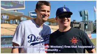 Dodgers host firefighters for batting practice