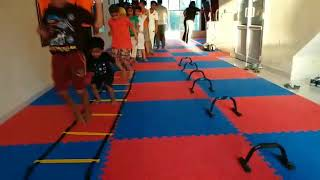 Warm up session for tiny tots for Martial Arts @psima & fitness