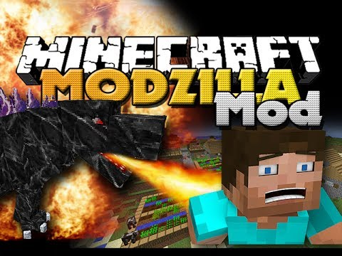 Minecraft Mod - Mutant Godzilla Mod - New Armor. Items and BOSSES