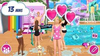 Barbie Dreamhouse Adventures - Barbie Hosts a Pool Party - Kids Games