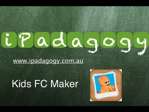 iPadagogy - App Review - Kids Flashcard Maker Tutorial