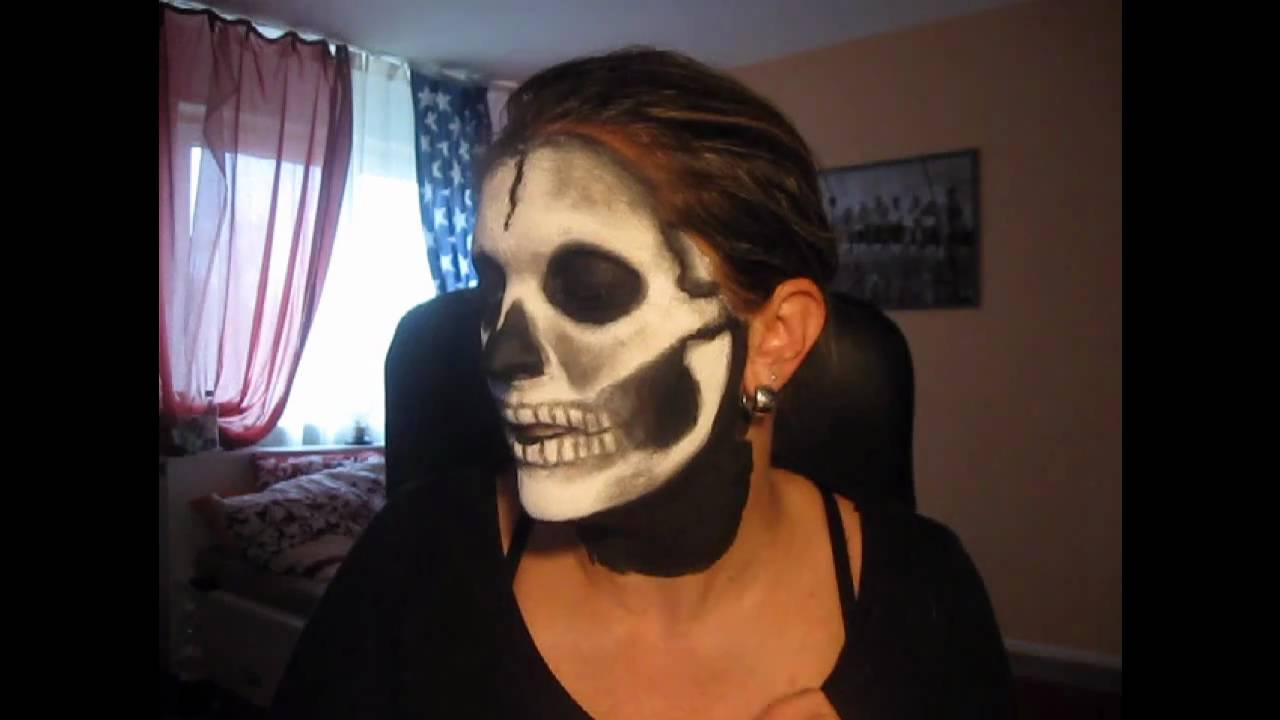 ich schmink dir das lied vom tod totenkopf skull zu halloween youtube. Black Bedroom Furniture Sets. Home Design Ideas