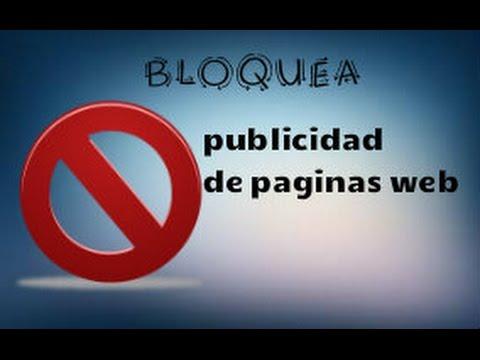 Bloquear anuncios de paginas web (Sin programas y gratis)