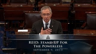 Reid: Stand Up For The Powerless