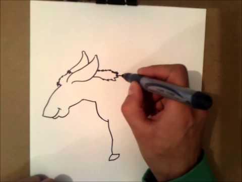 Видео как нарисовать осла