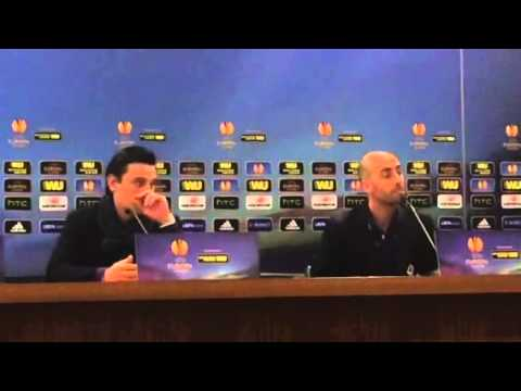Mister Vincenzo Montella e Borja Valero in conferenza stamp