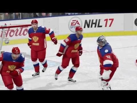 NHL 17 Финал кубка мира. Торжественное вручение трофея.Россия!