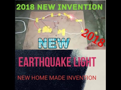 how to make a earthquake light   2018 new invention
