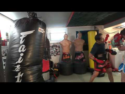 Combination of 12, Elbow, knees and Front Kick - Master K Muay Thai Image 1