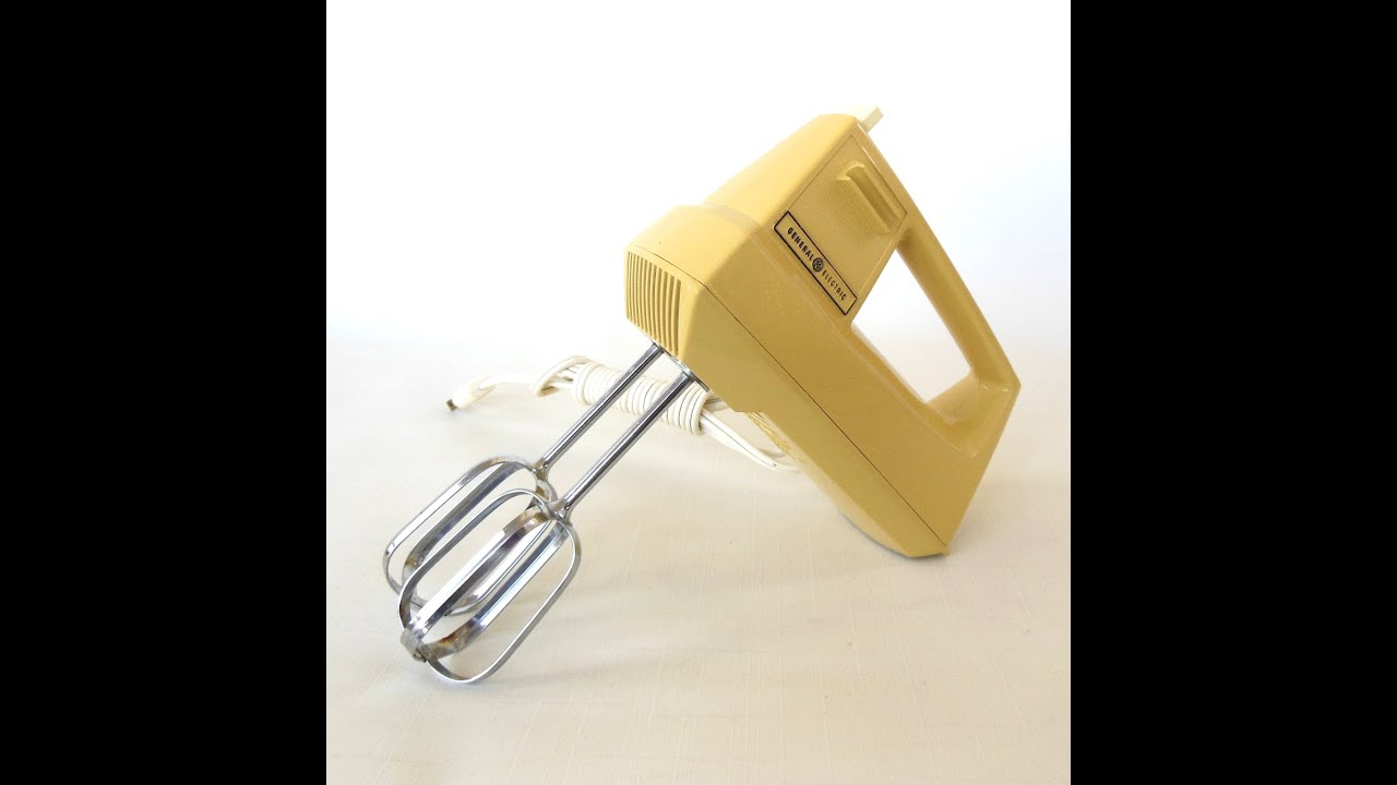 General Electric Hand Mixer Vintage 1970s Kitchen