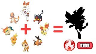 Scorbunny And Friends - All Fire Type Pokémon Starters Fusion - Gen 1 To Gen 8.