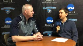 Elmhurst basketball coach John Baines talks with BluejayTV on 1/26/16