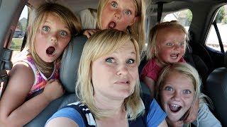 24 HOURS WITH 5 KIDS ON A ROAD TRIP!