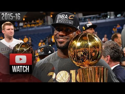 LeBron James Full Game 7 Highlights at Warriors 2016 Finals - 27 Pts, 11 Reb, 11 Ast, CHAMPION!
