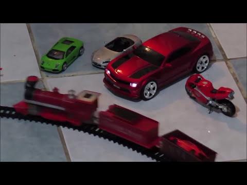 trenes infantiles, trencito del oeste con autos de coleccion y aviones