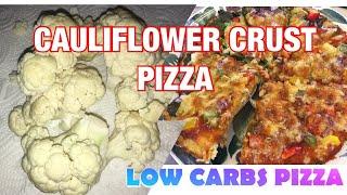HOW TO MAKE CAULIFLOWER CRUST/PIZZA