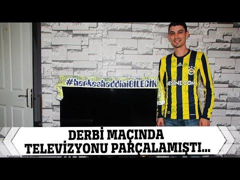 Derbi Maçında Televizyon Parçalayan Taraftara Fenerbahçeli Oyuncudan Yeni Televizyon