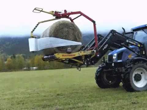 Как правильно складывать тюки сена!
