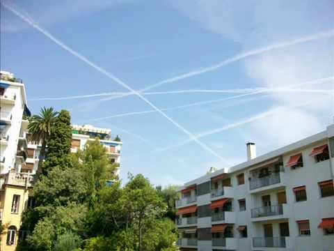 chemtrails France  french riviera 2009