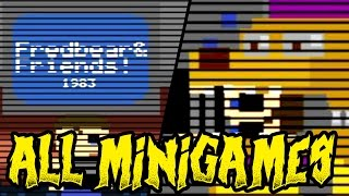 FNAF 4 ALL MINIGAMES & EASTER EGGS || Five Nights at Freddy's 4 Minigames