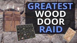 The GREATEST Wood Door Raid EVER?!? Rust Solo Survival Gameplay