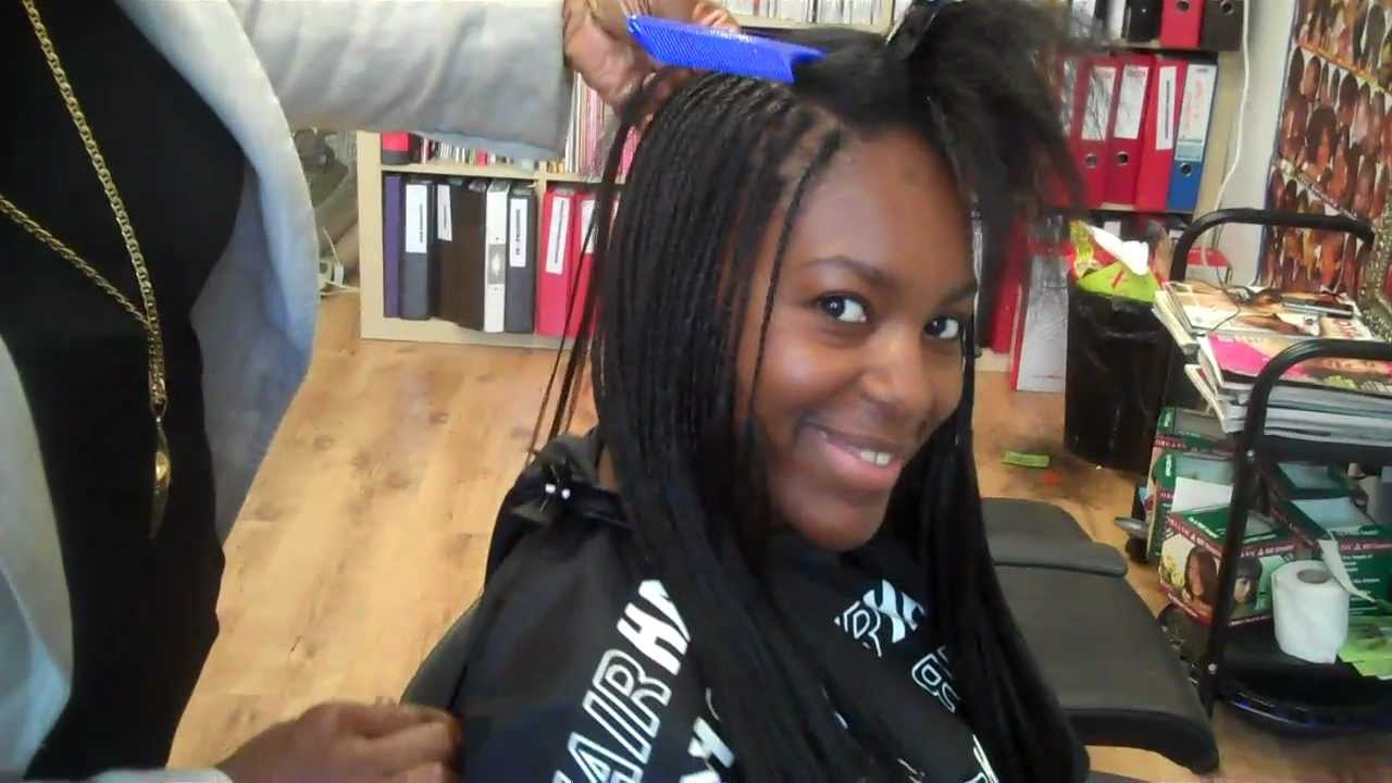 Tutorial: Micro Braids with Kanekalon Extensions 1 - YouTube