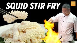 How To Cook Perfect Stir Fry Squid l 油爆魷魚卷