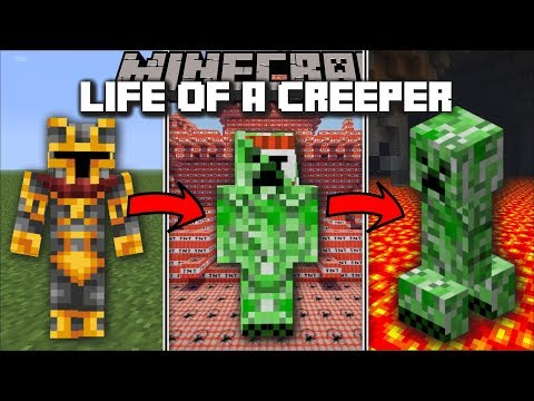 Minecraft LIFE OF A CREEPER MOD / FIGHT AND BLOW UP TNT AS A CREEPER!! Minecraft