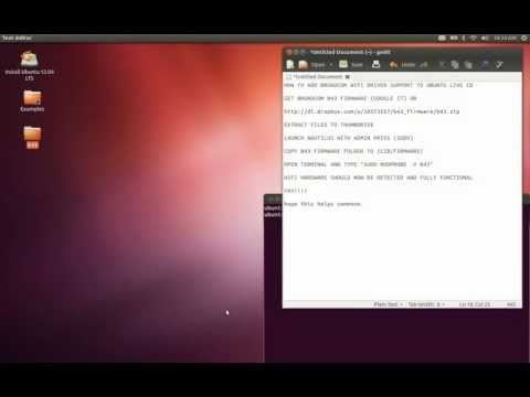 Broadcom Wifi Drivers in Ubuntu 12.04 Live