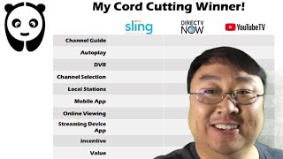 My choice for the best cord cutting steaming TV service is...