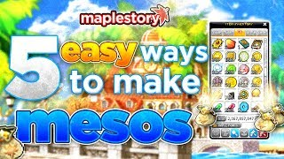 MapleStory: Five Easy Ways to Make Mesos